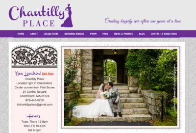 Chantilly's new website, sneak peek.