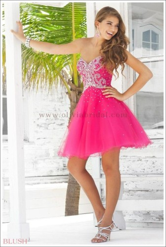 Blush Prom Style 9342 Fuchsia Size 2 $420 on sale $150