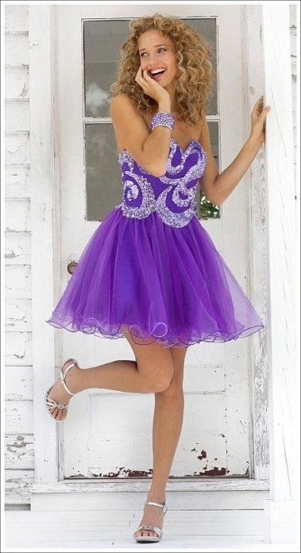 Blush Prom Style 9363 Purple Size 6 $408 on sale $150