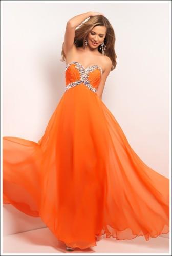 Blush Prom Style 9516 Orange Size 2 $409 on sale $200