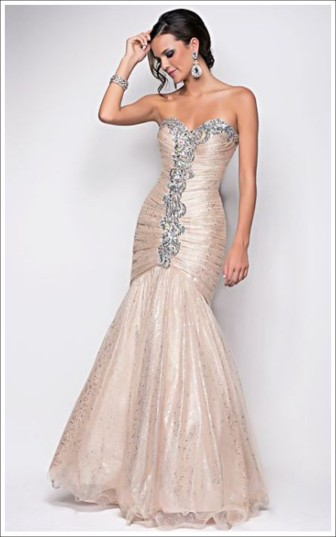 Blush Prom Style 9566 Champagne Size 10 $519 on sale $350