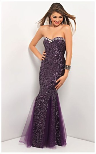 Blush Prom Style 9570 Aubergine Size 8 $489 on sale $300