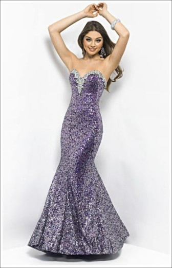 Blush Prom Style 9599 Purple Size 6 $459 on sale $300